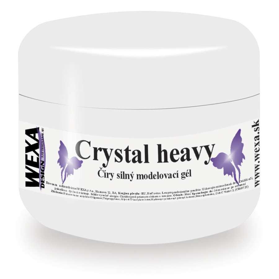 Modelovací veľmi hustý UV gél Crystal heavy - 50ml