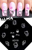 Stamping Nail Art platnička - KD19