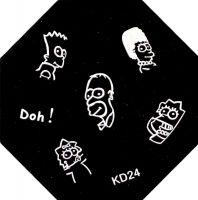 Stamping Nail Art platnička - KD24