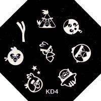 Stamping Nail Art platnička - KD4