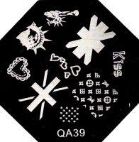 Stamping Nail Art platnička - QA39