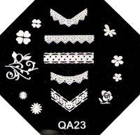 Stamping Nail Art platnička - QA23