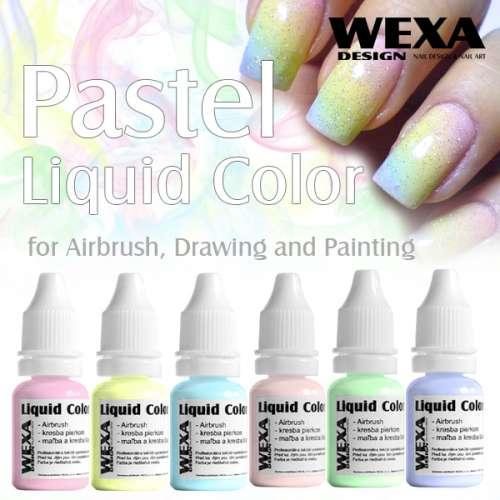 Pastelové farby pre Airbrush na nechty
