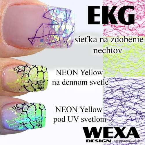 Sieťka na zdobenie nechtov - EKG
