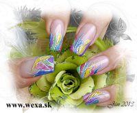 Farebný Glamour Cosmic UV gél - Rain
