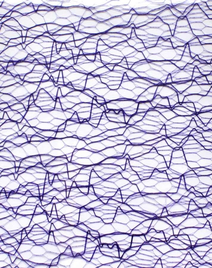 Sieťka na zdobenie nechtov - EKG Violet