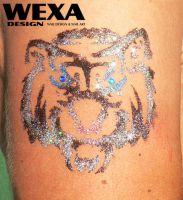 Tattoo šablónka - Tiger