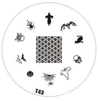 Tribal Stamping Nail Art platnička - T43