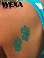 Tattoo šablónka na trblietavé tetovanie - 29-166