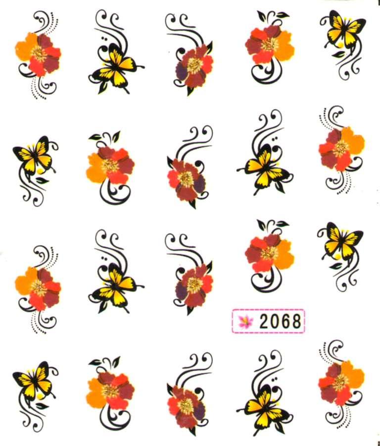Vodolepky s trblietkami - 2068