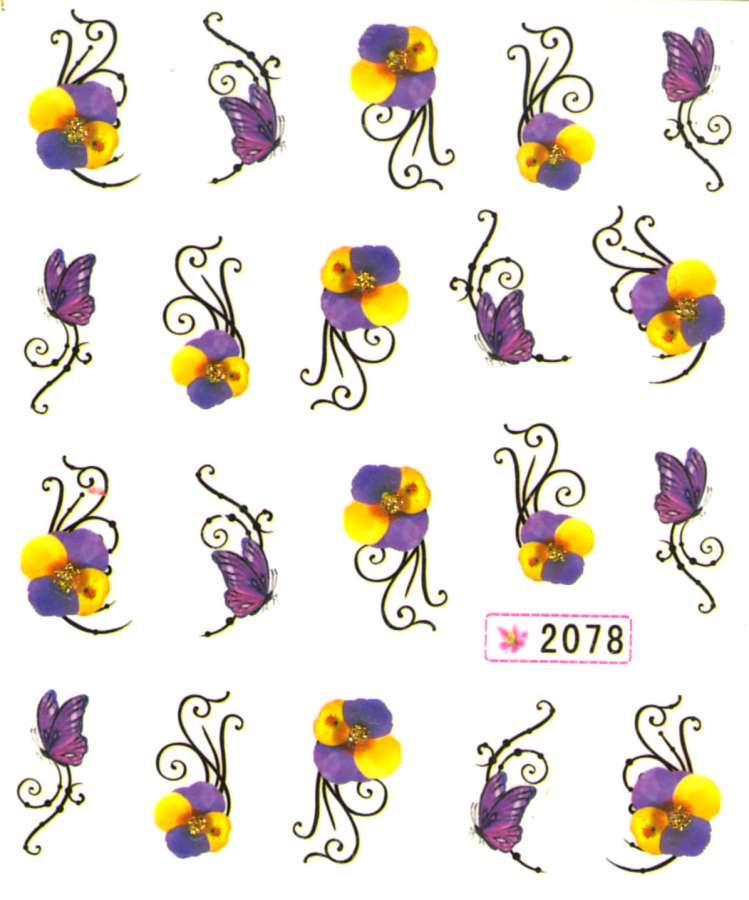 Vodolepky s trblietkami - 2078 motýle