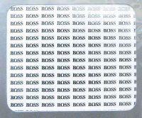 Nálepky kovové - Boss striebro