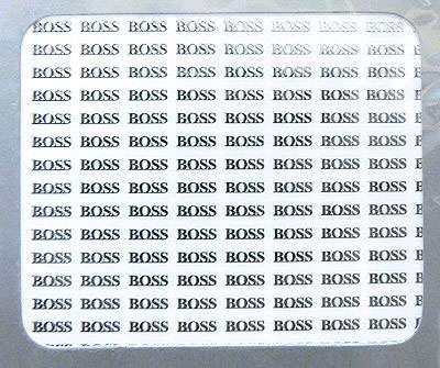 Boss - Kovové nálepky na nechty