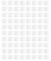 Nálepky kovové - Chanel striebro