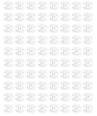 Chanel kovové nálepky na nechty