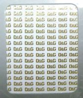 Metallic Stickers D&G gold