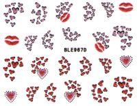 Glitter nálepky na nechty BLE967D