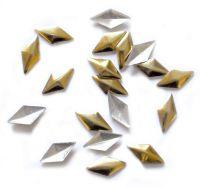 Kovová ozdoba na nechty - Gold Rhomba Big