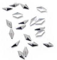 Kovová ozdoba na nechty - Silver Rhomba Big