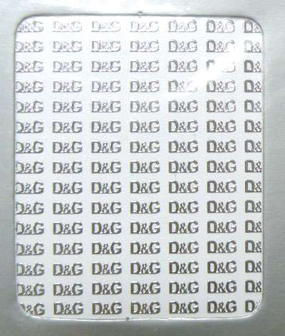 Metallic Stickers D&G silver