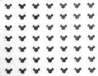 Nálepky kovové - Mickey striebro