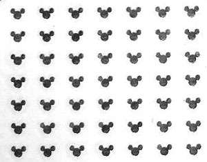 Mickey Mouse kovové nálepky na nechty