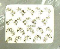 Nálepky kovové - HDJYT013 zlato