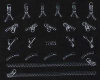 Nálepky na nechty TY032 silver - ZIPS