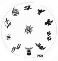 Stamping Nail Art platnička - P59 Halloween