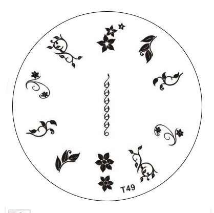 Tribal Stamping Nail Art platnička - T49