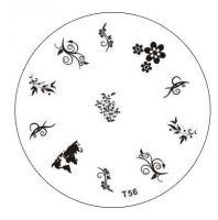 Tribal Stamping Nail Art platnička - T56