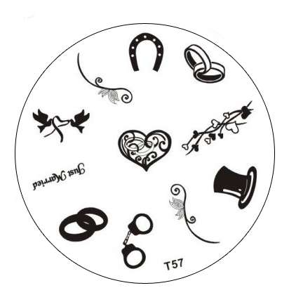 Tribal Stamping Nail Art platnička - T57