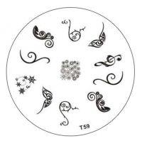 Tribal Stamping Nail Art platnička - T59