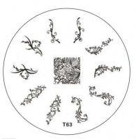 Tribal Stamping Nail Art platnička - T63