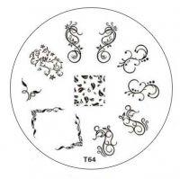 Tribal Stamping Nail Art platnička - T64