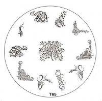 Tribal Stamping Nail Art platnička - T65