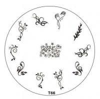 Tribal Stamping Nail Art platnička - T66
