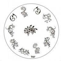 Tribal Stamping Nail Art platnička - T67