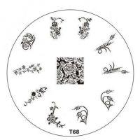 Tribal Stamping Nail Art platnička - T68