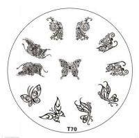 Tribal Stamping Nail Art platnička - T70 Butterfly