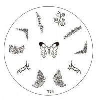 Tribal Stamping Nail Art platnička - T71