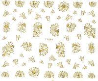 3D BIG gold nálepky na nechty TY064