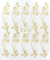 3D gold nálepky na nechty Z012
