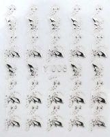 3D silver nálepky na nechty Y008