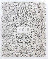 3D silver nálepky na nechty Y045