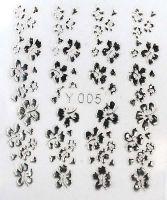 3D silver nálepky na nechty Y005