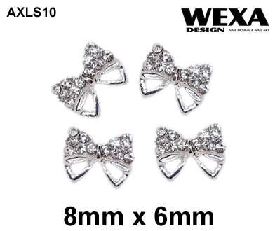 Crystal 3D Deco - AXLS10 - mašličky s kamienkami