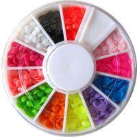 Farebné plastové diamanty - kolotoč