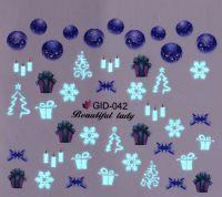 Fosforové vodolepky na nechty - GID042