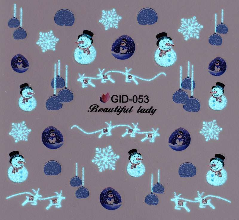 Fosforové vodolepky na nechty - GID053